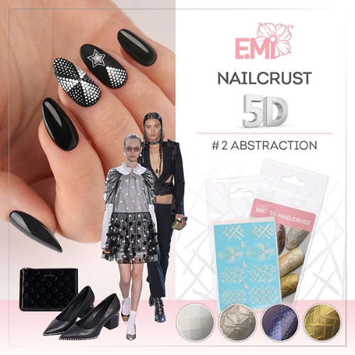 [E.Mi] NAILCRUST 워터데칼 5D #2 Abstraction