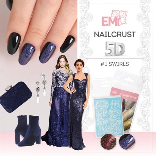 [E.Mi] NAILCRUST 워터데칼 5D #1 Swirls