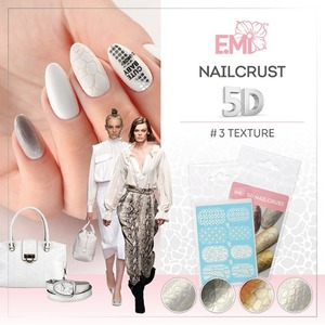 [E.Mi] NAILCRUST 워터데칼 5D #3 Textur