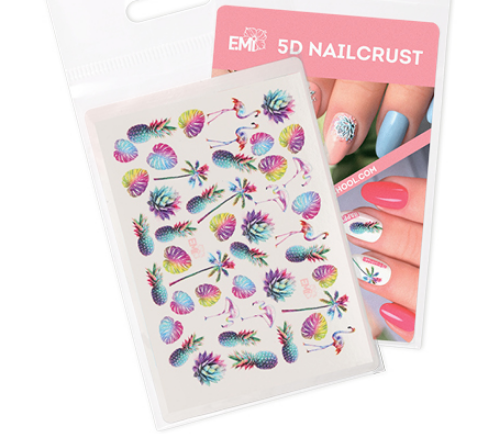 [E.Mi] NAILCRUST 워터데칼 5D #7 Fruits