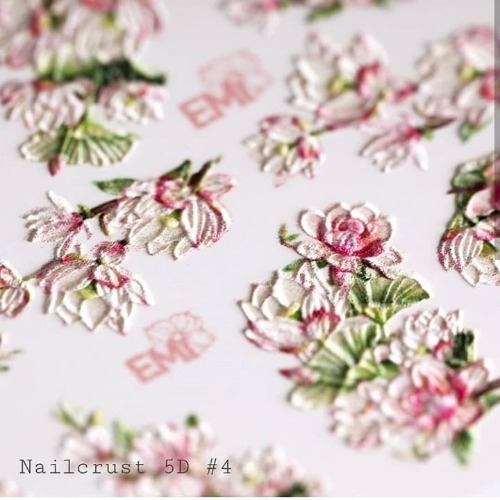 [E.Mi] NAILCRUST 워터데칼 5D #4 Flpwers